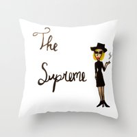 coven Throw Pillows featuring The Supreme by Dax M