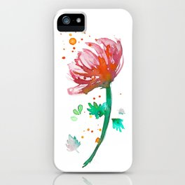 Warm Watercolour Fiordland Flower iPhone Case