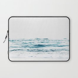 Water, Sea, Ocean, Water, Blue, Nature, Modern art, Art, Minimal, Wall art Laptop Sleeve