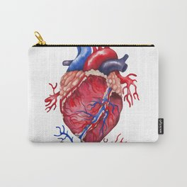 Watercolor heart Carry-All Pouch