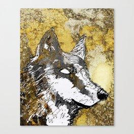 Gray Wolf Art Canvas Print