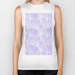 Cascading Wisteria in Lilac + White Biker Tank