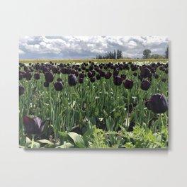 Goth Gardening Metal Print