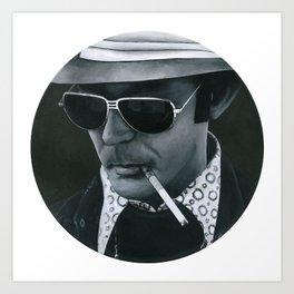 Hunter S. Thompson on vinyl record print Art Print