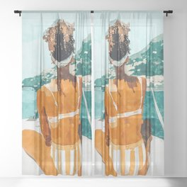 Solo Traveler Sheer Curtain