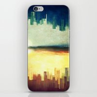 cities iPhone & iPod Skins featuring Parallel cities by SensualPatterns