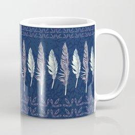 Midnight Blue Feather Formation Coffee Mug