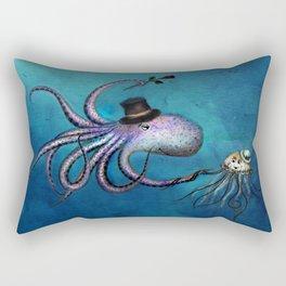 Underwater Love // octopus jellyfish Rectangular Pillow