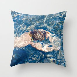 Underwater diffraction Throw Pillow