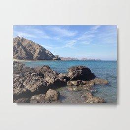 Oman Beach 2 Metal Print