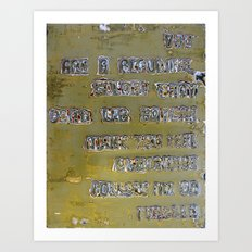 Pickup Lines - Golden Baby Art Print