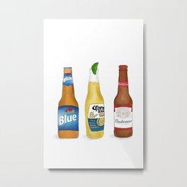 Three Beers Metal Print