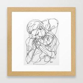 Don't Let Go series - Kiss me Framed Art Print