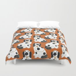 Staffordshire Dog Figurines No. 2 in Terracotta Duvet Cover