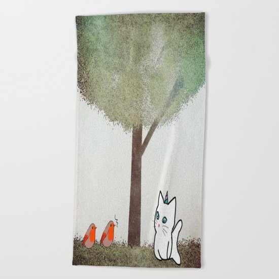 cat-17 Beach Towel