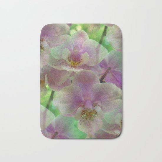 Tropical Pink Orchid Fantasy Bath Mat
