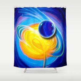 Abstract perfection - Circle Shower Curtain