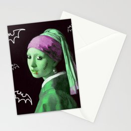 Zombie with a pearl earring Stationery Cards