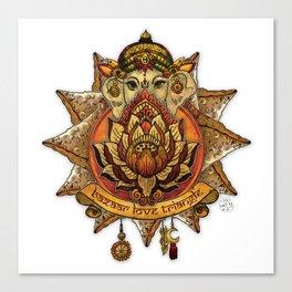 Keep Korma and Curry On Canvas Print