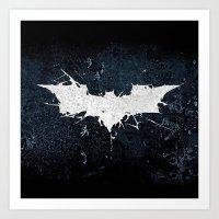 bat man Art Prints featuring BAT MAN by Thorin