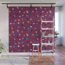 Purple Confetti Spot Wall Mural