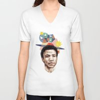 caleb troy V-neck T-shirts featuring Troy by mycolour