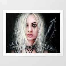 Sword In the Dark: A Gothic Warrior Art Print