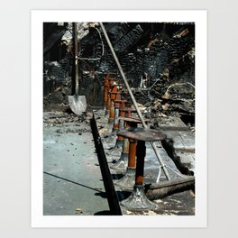 Route 66 ~ Burn Out Art Print