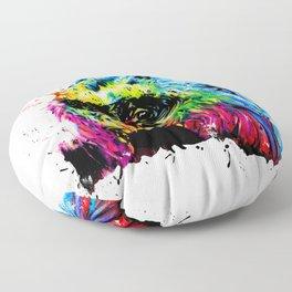 Rainbow Gorilla Floor Pillow