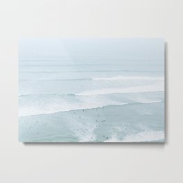 Tiny Surfers from the Sky, Lima, Peru Metal Print