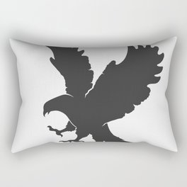 vector silhouette flying eagle on a white background Rectangular Pillow