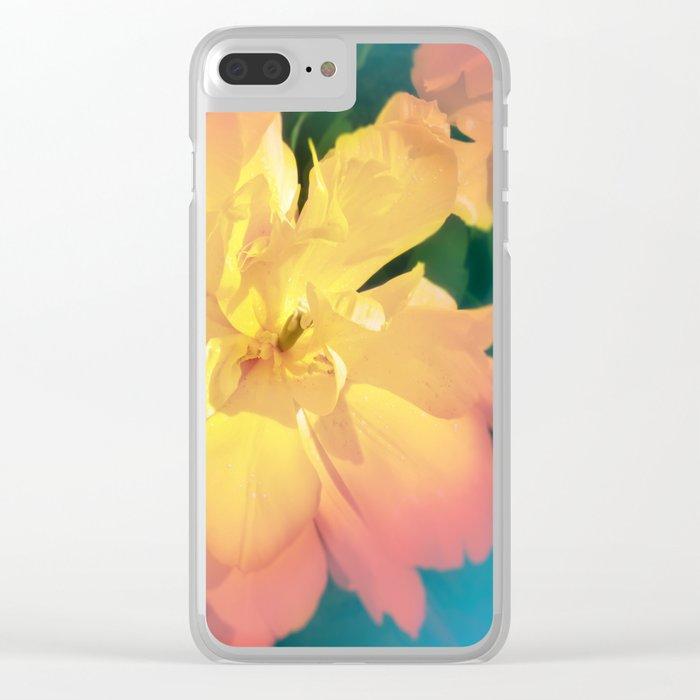 Electric Flower Clear iPhone Case