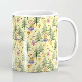 Little Foxes in Autumn Forest Coffee Mug