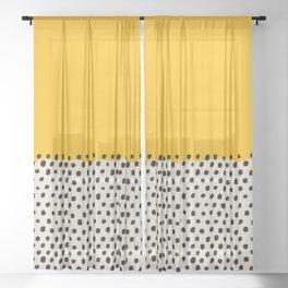 Mid Century Abstract Print, Sunset Art, Living Room Decor, Colour Field, Modernist Modern Art, Colou Sheer Curtain