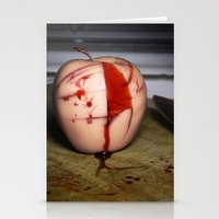in the flesh Stationery Cards featuring Rotten Flesh by Andre Portee (Rosewood Film)