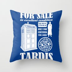 Tardis for sale Throw Pillow