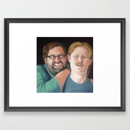 Portrait of Tim Heidecker and Eric Wareheim (Tim & Eric) Framed Art Print