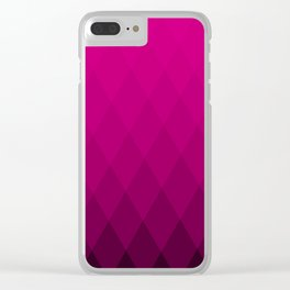 Pink ombre triangles Clear iPhone Case