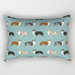 Australian Shepherd owners dog breed cute herding dogs aussie dogs animal pet portrait hearts Rectangular Pillow