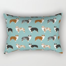 Australian Shepherd owners dog breed cute herding dogs aussie dogs animal pet portrait hearts Rectangular Pillow