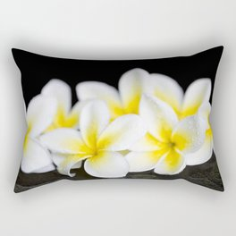 Plumeria obtusa Singapore White Rectangular Pillow