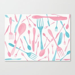 #71. FIONA (Forks & Knives) Canvas Print