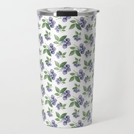 Watercolour blueberry pattern #s1 Travel Mug