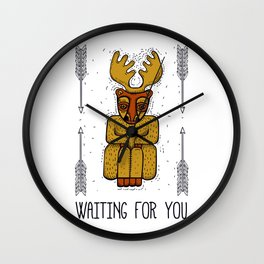 Waiting for you Wall Clock