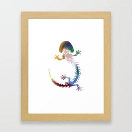 Hellbender Skeleton Framed Art Print