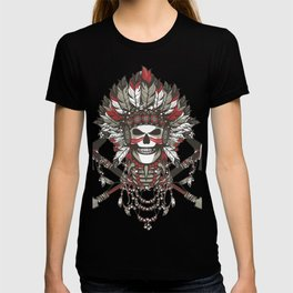 Red Indian Skull T-shirt