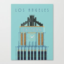 Eastern Columbia Building Los Angeles Art Deco Canvas Print