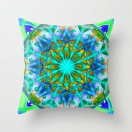 Abstract Flower ZZ SSS Throw Pillow