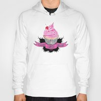 bands Hoodies featuring Bands for Boobs Cupcake Logo by Bands for Boobs