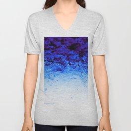 Indigo Blue Crystal Ombre Unisex V-Neck